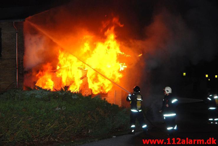 Brand på Vinding Skole. Vindingvej i vejle. 31-12-2007.