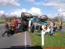 Væltet Traktor.