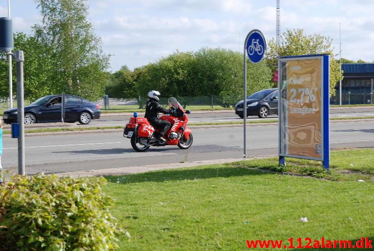 Motorcykel fra den 16/05-2014. på Horsensvej i Vejle.