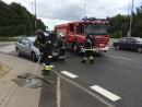 Bilbrand. Horsensvej i Vejle. 19/06-2014. Kl. 13:33.