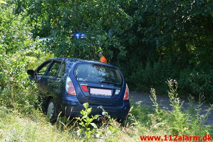 Trafikuheld med fastklemt.