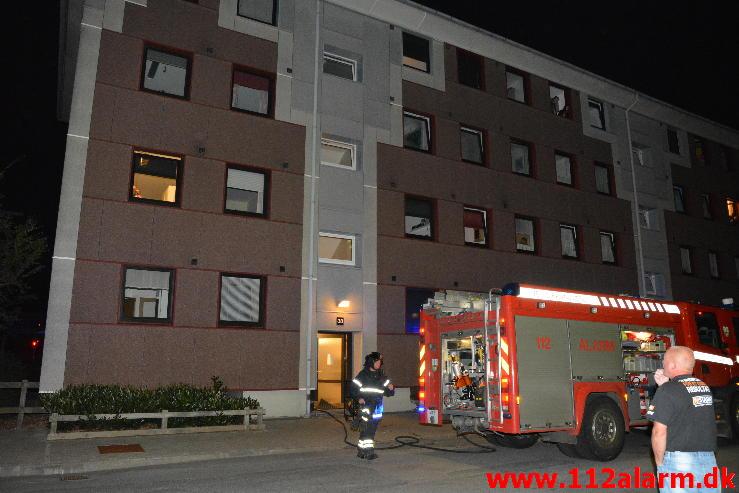 Brand i lejlighed.