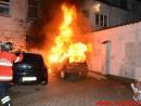 2 biler i brand.