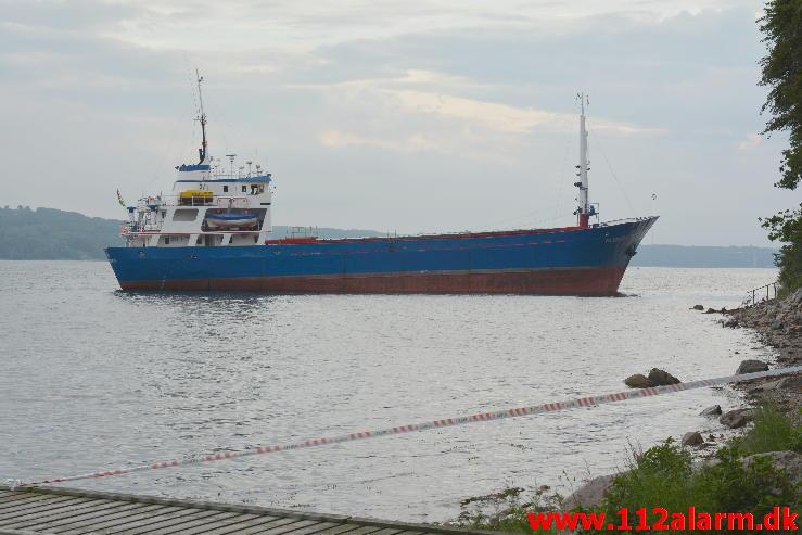 Grundstødt skib.