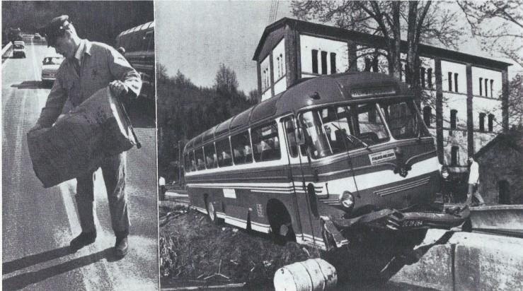 Bus ved Lerbæk Mølle.