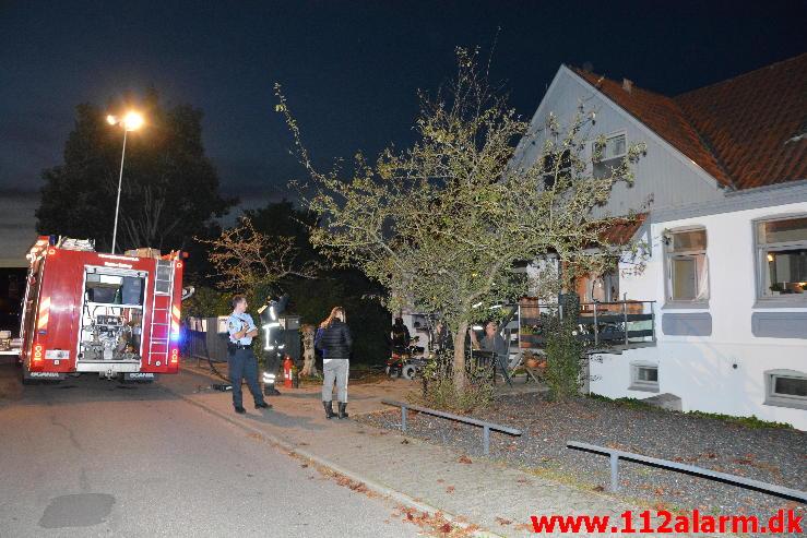 Bygn.brand-Etageejendom. Amaliegade i Børkop. 17/09-2014. Kl. 19:57.