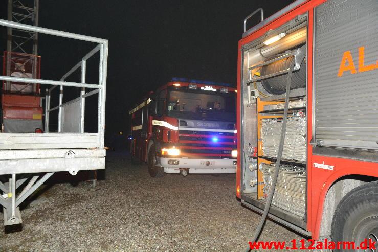 Brand i Etageejendom. Grønnedalen 18 C i Vejle. 21/09-2014. Kl. 23:23.