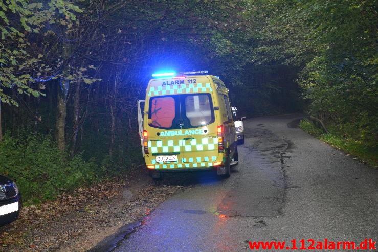 FUH med fastklemt. Ny Hornstrupvej i Vejle. 24/09-2014. KL. 17:09.
