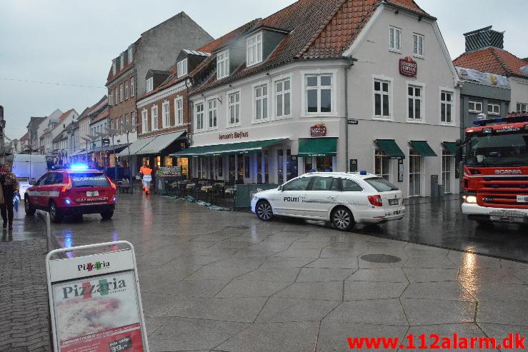 Brand i Etageejendom. søndergade 23 Vejle. 07/10-2014. KL. 10:47.