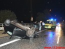 Bilen røg over autoværnet. Koldingvej i Vejle. 11/10-2014. Kl. 22:00.