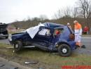 Alvorligt trafikuheld. Jennumvej og Bredstenvej ved Skibet. 27/03-2015. Kl. 14:43.