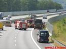 Større olieudslip. E45 motorvejen i sydgående. 29/06-2015. Kl. 11:02.