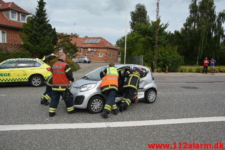 FUH med fastklemt. Horsensvej I Vejle. 30/08-2015. Kl. 11:08.