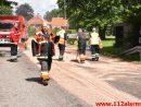 Forurening Olieudslip. Langgade i Gadbjerg. 30/06-2016. Kl. 13:27.