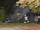 Brand i udhus. Nederbyvej i Skærup. 07/10-2016. Kl. 23:28.