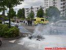 Ild i en Knallert. Skovgade i Vejle. 20/05-2017. Kl. 17:14.