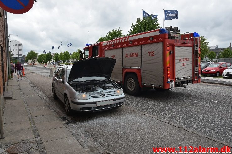 Bilbrand. Østerbrogade 16 i Vejle. 11/06-2017. Kl. 16:56.