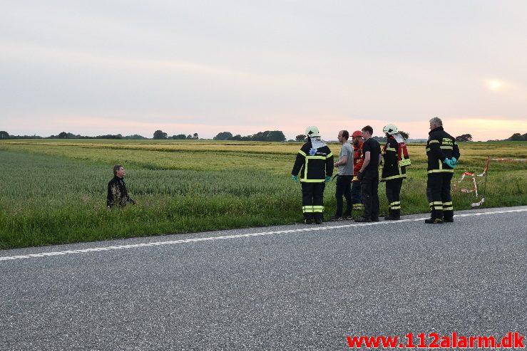 Større Kemikalie udslip. Vejlevej ved Fredericia. 14/06-2017. Kl. 20:42.