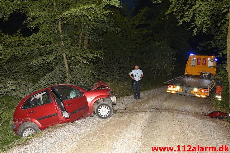Person stak af fra stedet. Vigen Skovvej tæt på Børkop. 15/06-2017. Kl. Ca. 22:00.
