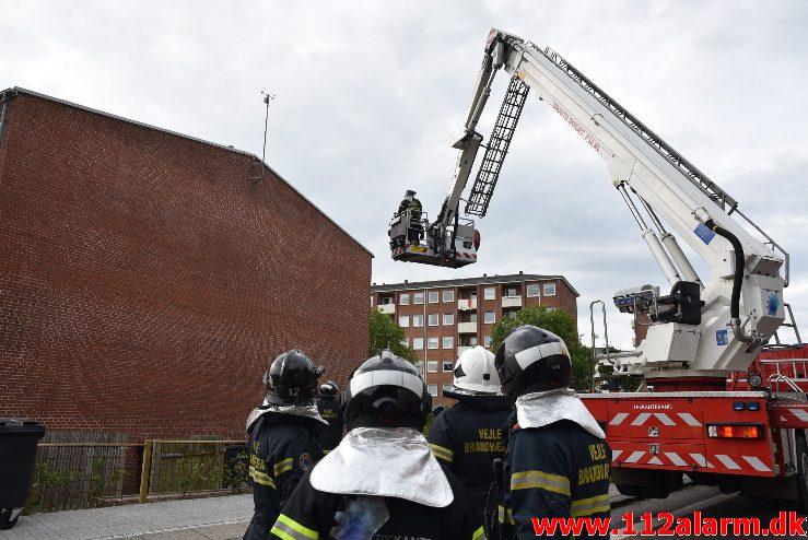 Personredning – bygning. Nørremarksskolen i Vejle. 07/07-2017. Kl. 19:10.