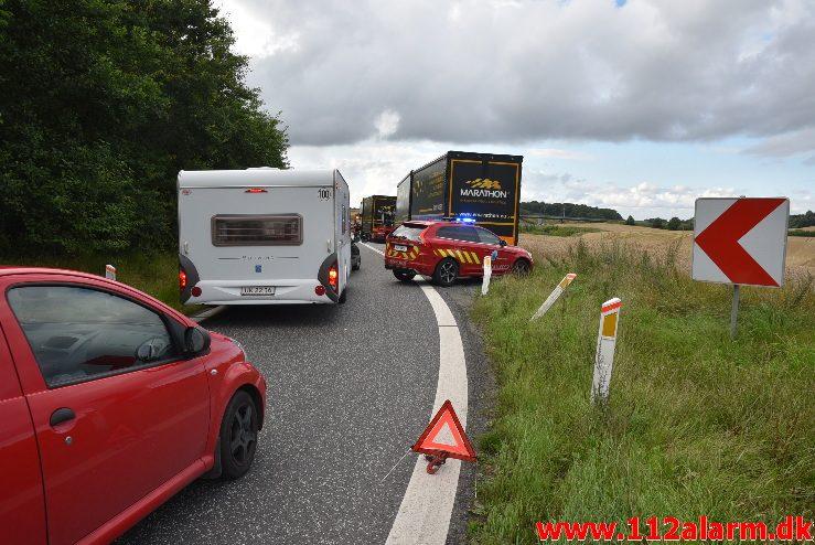 Mindre Færdselsuheld. Rasteplads i nordgående spor E45. 05/08-2017. Kl. 18:08.