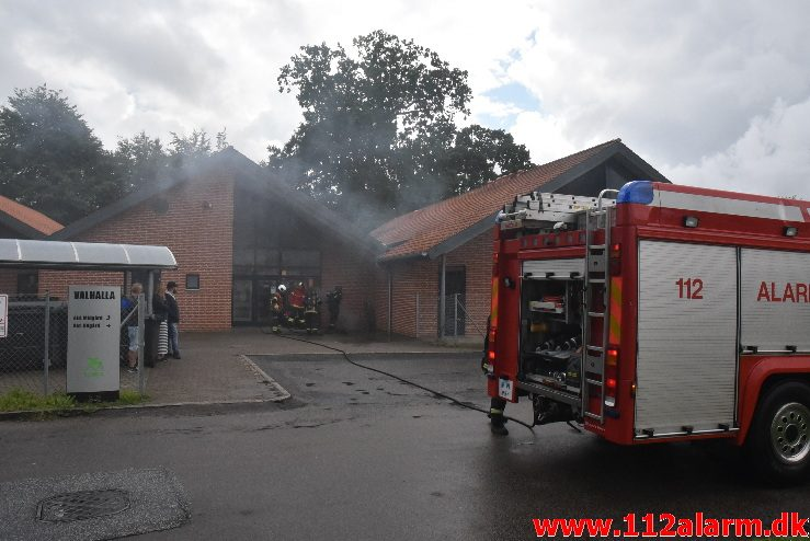 Brand i institution. Vindinggård Center i Vejle. 12/08-2017. Kl. 14:18.