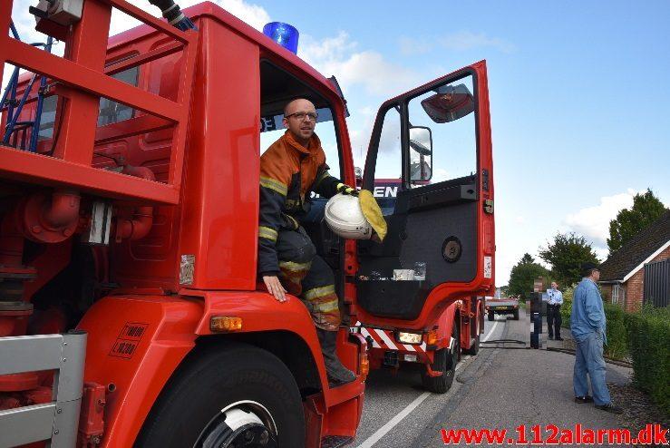Brand i Villa. Billundvej i Ny Nørup. 31/08-2017. Kl. 17:18.