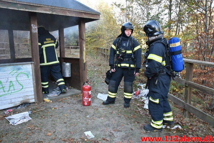 Mindre Bygningsbrand. Sofievej i Vejle. 30/10-2017. Kl. 15:54.