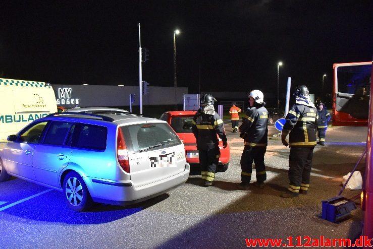 FUH med Fastklemt. Horsensvej og Juulsbjergvej. 31/10-2017. Kl. 18:42.