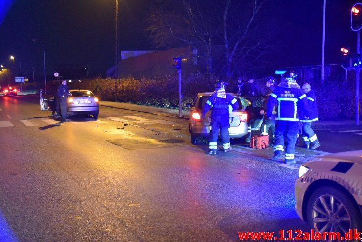 FUH med fastklemt. Horsensvej i Vejle. 01/12-2017. Kl. 21:24.