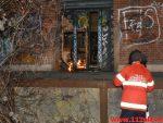 Brand i den gamle godsbanegård. Gammelhavn i Vejle. 26/02-2018. Kl. 21:04.