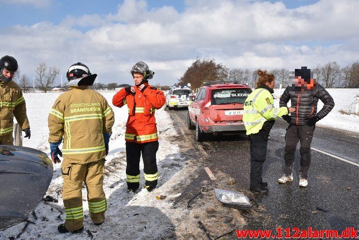 FUH med fastklemt. Tørringvej ved Sandved. 28/02-2018. Kl. 11:16.