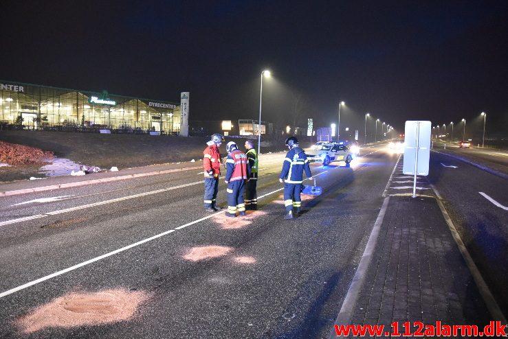 FUH med fastklemt. Horsensvej i Vejle. 09/03-2018. Kl. 18:41.