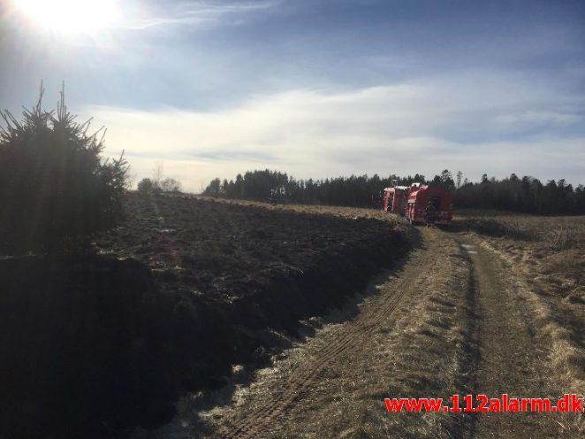 Naturbrand / hede / klit. Bindeballevej i Randbøl. 20/03-2018. Kl.14:58.