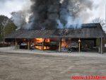 Brand ved Centrum Pæle. Grønlandsvej 96 i Vejle. 29/04-2018. Kl. 10:42.