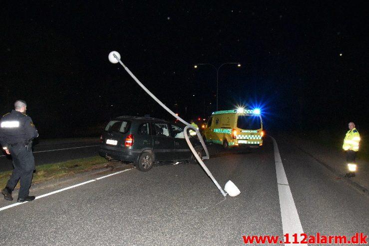 Trafikuheld. Grønlandsvej i Vejle.06/05-2018. Kl. 00:05.