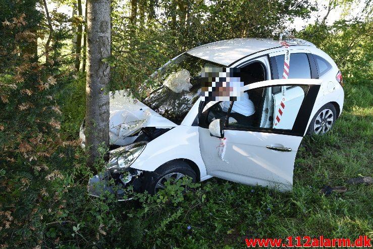 FUH - Færdselsuheld. Treldevej ved Fredericia. 11/05-2018. Kl. 18:29.