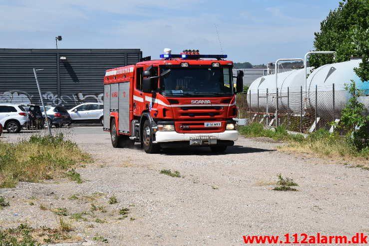 Mindre naturbrand. Gammelhavn i Vejle. 04/06-2018. Kl. 13:44.