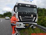 Lastbil ryg af motorvejsrampen. E45 ved DTC - Vejle. 21/06-2018. KL. 10:00.