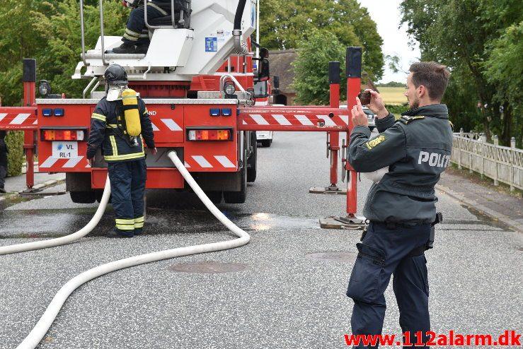 Gårdbrand. Engumvej 91 i vejle øst. 05/07-2018. Kl. 17:33.