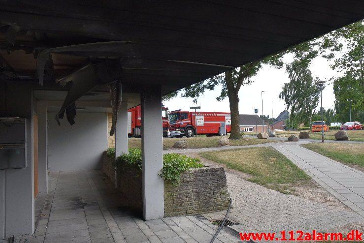 SÅ er den galt igen. Løget Center 71 i Vejle. 06/07-2018. Kl. 19:10.