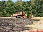 Brand i landbrugsredskab. Logslundvej i Tørring. 27/07-2018. Kl. 17:46.