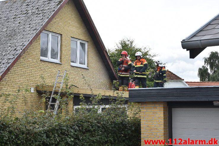 Brand i Villa. Hesteskoen i Jerlev. 15/09-2018. Kl. 14:45.