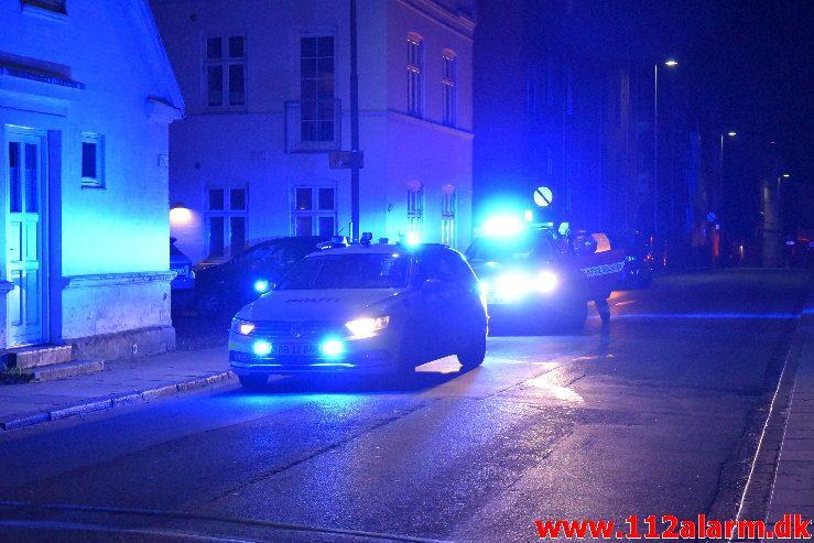 Brand i Villa. Holmen i Vejle. 13/10-2018. Kl. 00:44.