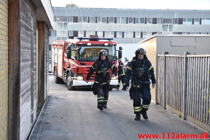 Brand i Etageejendom. Løget Høj i vejle. 03/11-2018. Kl. 15:26.
