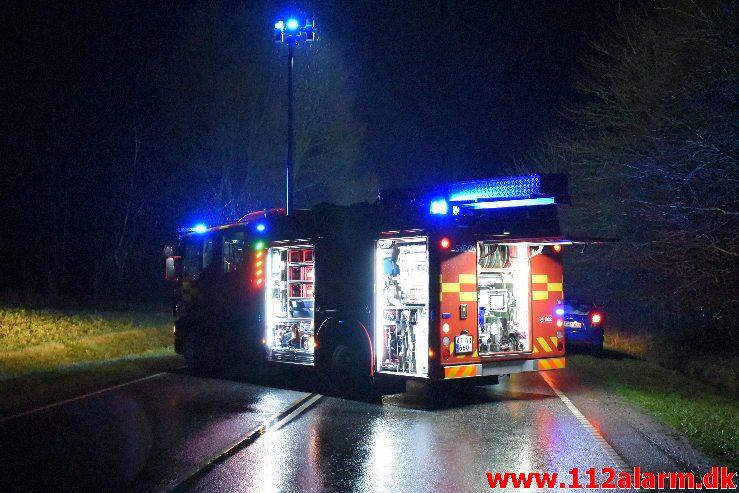 Alvorligt trafikuheld. Juelsmindevej ved Daugård. 21/12-2018. Ca. Kl.19:30.