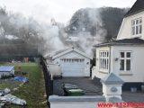 Brand i Villa. Ibæk Strandvej i Vejle. 25/01-2019. Kl. 09:21.