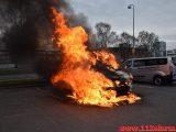 Bil brænder ved Ford i Vejle. Boulevarden i Vejle. 23/03-2019. Kl. 07:34.