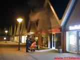 Brand i Pizza Butik. Bredballe Center i Vejle ø. 31/03-2019. K. 21:55.