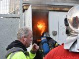 Ild i transformatorstation. Holmen i Vejle. 11/04-2019. Kl. 18:15.